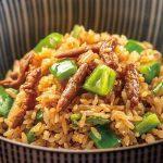 ユニークな中華風焼飯:チンジャオロース飯を浅草蔵前の漁見で食べてみた